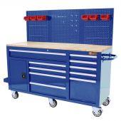 George Tools Werkzeugwagen 62 Zoll blau gefüllt - 156-teilig