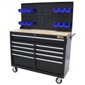 George Tools Werkzeugwagen 46 Zoll schwarz gefüllt - 164 teilig