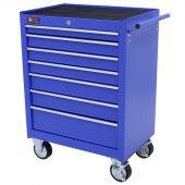 George Tools werkzeugwagen 7 schubladen blau