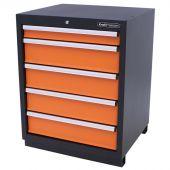 Kraftmeister Werkzeugschrank 5 Schubladen orange - Nextgen