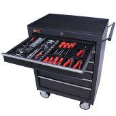 George Tools Werkzeugwagen gefüllt 6 Schubladen 144-teilig anthrazit