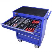 George Tools Werkzeugwagen gefüllt 6 Schubladen 209-teilig blau