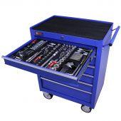 George Tools Werkzeugwagen gefüllt 6 Schubladen 253-teilig blau