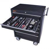 George Tools Werkzeugwagen gefüllt 7 Schubladen 253-teilig anthrazit