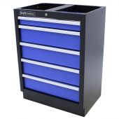 Kraftmeister Werkzeugschrank mit 5 Schubladen Standard blau