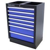 Kraftmeister Werkzeugschrank mit 7 Schubladen Standard blau