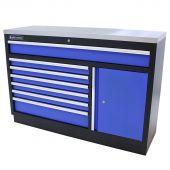 Kraftmeister Werkzeugschrank XL Edelstahl Standard blau