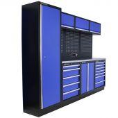 Kraftmeister Werkstatteinrichtung Delaware Edelstahl blau