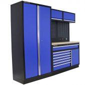 Kraftmeister Werkstatteinrichtung Iowa Edelstahl blau