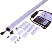 Farbige LED Lampe für Wandschrank 60 cm