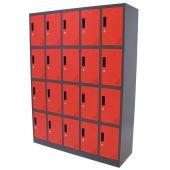 Kraftmeister Spind 20 Türen rot/anthrazit