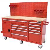 George Tools Werkzeugwagen 62 Zoll 10 Schubladen rot