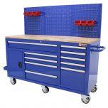 George Tools Werkzeugwagen 62 Zoll 10 Schubladen blau