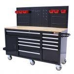 George Tools Werkzeugwagen 62 Zoll schwarz gefüllt - 156-teilig